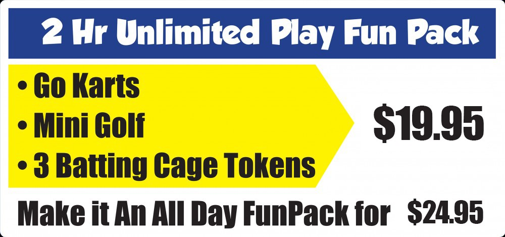 2 Hr Unlimited Play Fun Pack
